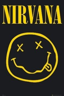 Kurt Cobain Nirvana Smiley Poster