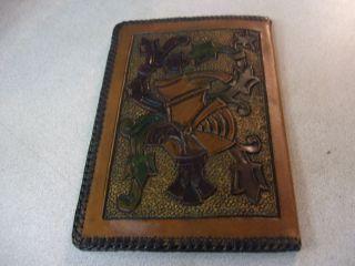 Vintage Sal de Fruta Eno El Simbolo de La Salud Leather Wallet