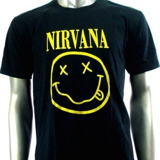 Sz L Nirvana Kurt Cobain T Shirt Biker Men Punk Music Rock S16
