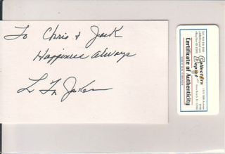 Latoya Jackson Singer Actress Signed Index Card COA
