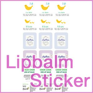 Lipbalm 5TYPE Stickers DIY Cosmetic Bottle Labels Film