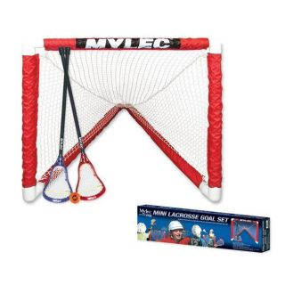 Mini Lacrosse Goal Set with 2 Sticks Foam Ball and Goal Set for Home
