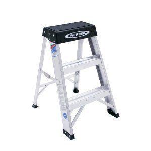 300 Pound Folding 3 Step Steps Stool Ladder Ladders Foot Kitchen New