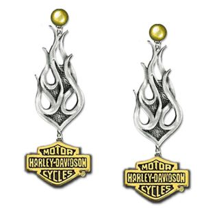 Harley Davidson Silver Ladies Tribal Earrings New