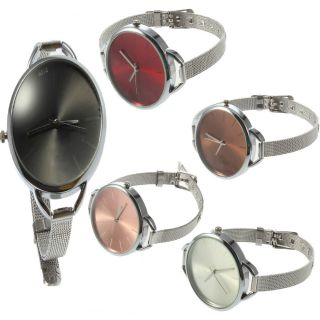 Wire Round Shiny Dial Ladies Girls Wrist Watch Gift Jewelry