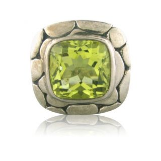 John Hardy Kali Sterling Silver Lemon Citrine Ring FV12A