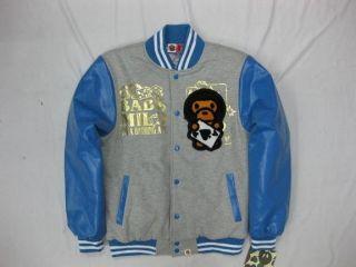 CLEARANCE bape A Bathing Ape Varsity Jacket Blue Medium