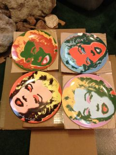 Andy Warhol Marilyn Monroe Plate Set