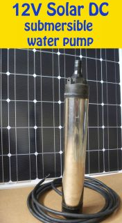 Solar DC Submersible Water Pump for Lake River Well 12V