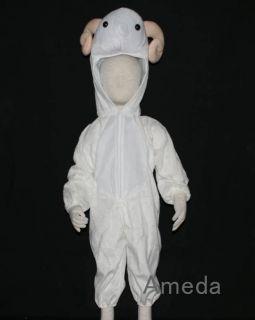 Halloween Kids Animal Costume Sheep Lamb Goat Birthday Party Dress Up