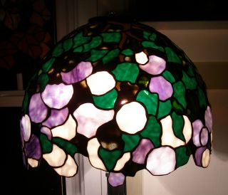 Tiffany Reproduction Stained Glass Lamp Shade Hydrangea Snowball by