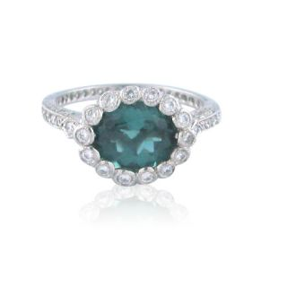 Cathy Waterman Platinum Tourmaline Diamond Ring
