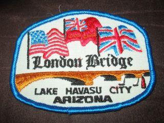 Souvenir Travel London Bridge Lake Havasu City Arizona Patch
