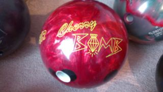 Lane 1 Cherry Bomb Bowling Ball