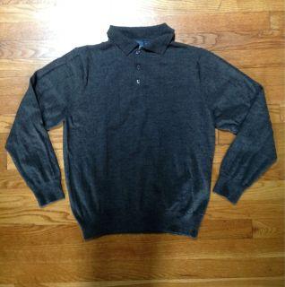 New Lanesboro Mens Merino Wool Polo Neck Sweater Size M