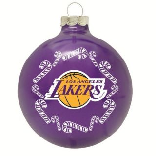 LA Lakers NBA Basketball Glass Christmas Ornament Holiday Decoration