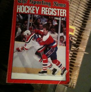 85 Sporting News Hockey Register Capitals Rod Langway Cover