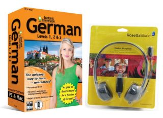 NEW Language Software Instant Immersion German AND Rosetta Stone USB