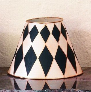 Creme and Black Harlequin Lamp Shade