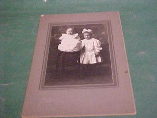 Cabinet Photo Child and Big Eyed Girl Names Larned KS