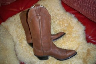 Larry Mahan Brown Soft Leather Boots Sz 9 B Excellent Condition