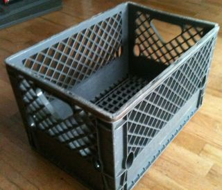 Large Milk Crate Dairy Crates Plastic Storage Container Stackable Bins