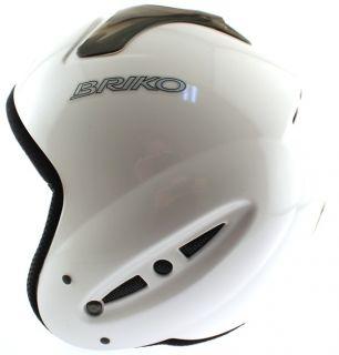 Briko Forerunner Race Snow Ski Snowboard Helmet 58cm Large LG L White
