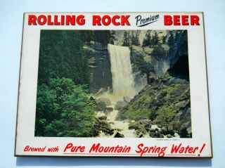 Rolling Rock Beer Wood Sign Latrobe PA Vintage