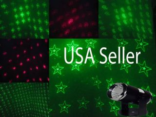 Christmas LED Stage Projector Laser Light Show Stars Hearts Candy Cane