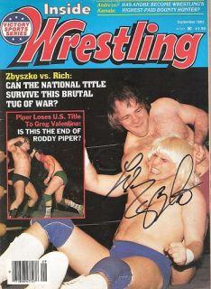 EB143 Larry Zbyszko Signed Wrestling Magazine WWF WWE w COA
