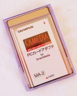 OLYMPUS PCMCIA SMARTMEDIA LAPTOP PC CARD ADAPTOR READER MA 2 GREAT