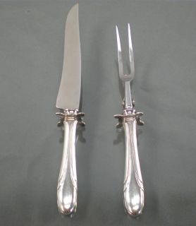Towle Sterling Silver Symphony Meat Carving Set Knife Fork