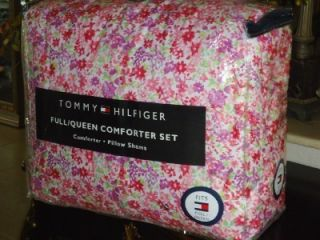 Tommy Hilfiger Sand Hill Pink Purple Red Floral 3pc Full Queen