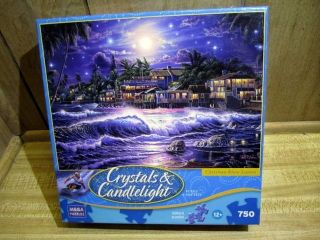 Christian Riese Lassen 750 PC Puzzle Crystals Candlelight with Glitter
