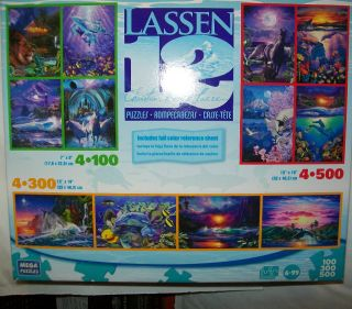 CHRISTIAN RIESE LASSEN 12 JIGSAW PUZZLE MIXED LOT FREE DOMESTIC