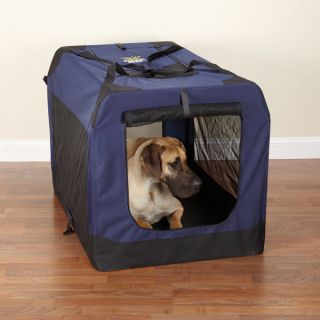 Guardian Gear Soft Collapsible Dog Crate Navy x Large