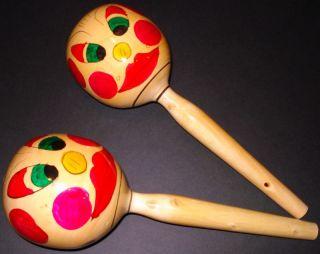12 5 Maracas Musical Percussion Instrument Handmade Mexican Folk Art