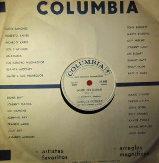 ENRIQUE GUZMAN DAME FELICIDAD LATIN ROCK ARGENTINA 78 RPM RECORD IN NM
