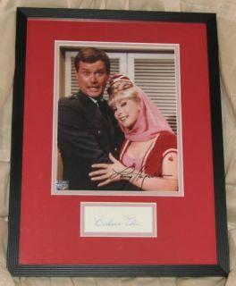 Larry Hagman Barbara Eden Signed I Dream Jeannie Framed Autograph