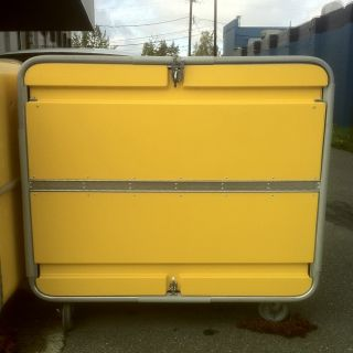 Large Yellow Commercial Laundry Carts
