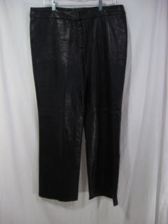 Black Leather Pants Laura Leigh Women's 14