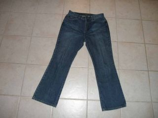 Lauren Ralph Lauren Womens Boot Cut Jeans 12 Petite 32 x 29 Blue Size