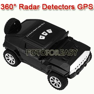 Car Shape Speed Radar 360° Detector Laser Detection Voice Safety
