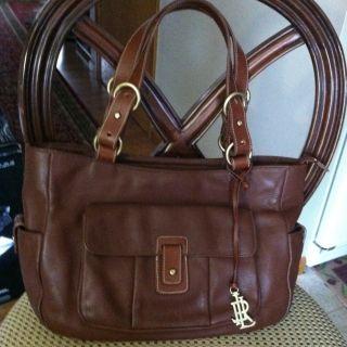 Lauren Ralph Lauren Brown Genuine Leather Handbag