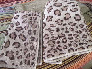 Ralph Lauren Leopard Towel Set GUC Bath and Hand Towel