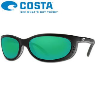 Costa Del Mar Fathom Black Green Mirror Costa 580G Sunglasses