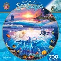 Round Jigsaw Puzzle Coming Home Christian Riese Lassen