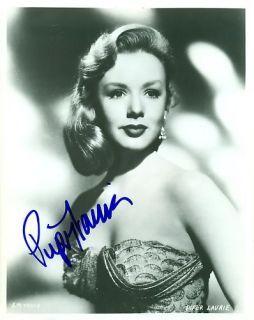 Autographed Piper Laurie Beautiful Young Closeup