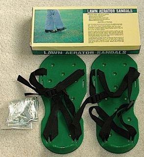 Brookstone Lawn Aerator Sandals Brand New in Box Great Item
