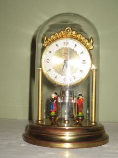 VINTAGE WEST GERMAN SCHMID ANNIVERSARY CLOCK MINIATURE WITH DUTCH